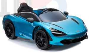 kidsvip mclaren 720s kids toddlers ride on car sport powered 12v rubber wheels leather seat rc blue 41