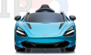 kidsvip mclaren 720s kids toddlers ride on car sport powered 12v rubber wheels leather seat rc blue 42