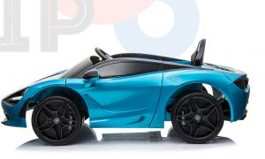 kidsvip mclaren 720s kids toddlers ride on car sport powered 12v rubber wheels leather seat rc blue 43
