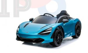 kidsvip mclaren 720s kids toddlers ride on car sport powered 12v rubber wheels leather seat rc blue 44