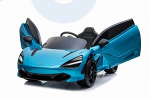 kidsvip mclaren 720s kids toddlers ride on car sport powered 12v rubber wheels leather seat rc blue 45