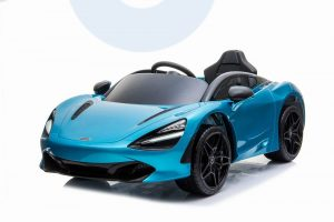 kidsvip mclaren 720s kids toddlers ride on car sport powered 12v rubber wheels leather seat rc blue 46