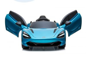 kidsvip mclaren 720s kids toddlers ride on car sport powered 12v rubber wheels leather seat rc blue 51
