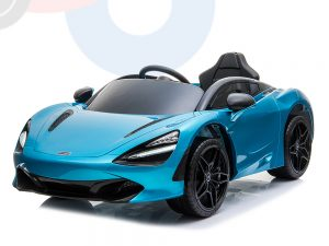 kidsvip mclaren 720s kids toddlers ride on car sport powered 12v rubber wheels leather seat rc blue 53