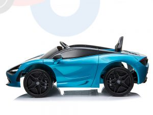 kidsvip mclaren 720s kids toddlers ride on car sport powered 12v rubber wheels leather seat rc blue 54