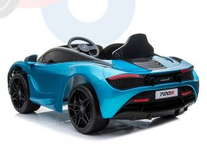 kidsvip mclaren 720s kids toddlers ride on car sport powered 12v rubber wheels leather seat rc blue 55