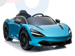 kidsvip mclaren 720s kids toddlers ride on car sport powered 12v rubber wheels leather seat rc blue 57