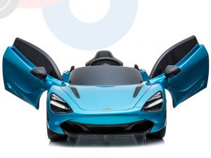 kidsvip mclaren 720s kids toddlers ride on car sport powered 12v rubber wheels leather seat rc blue 58
