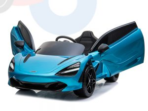 kidsvip mclaren 720s kids toddlers ride on car sport powered 12v rubber wheels leather seat rc blue 59