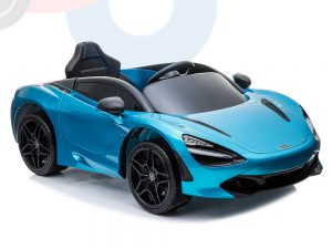 kidsvip mclaren 720s kids toddlers ride on car sport powered 12v rubber wheels leather seat rc blue 63