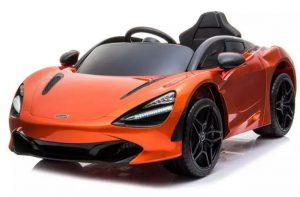kidsvip mclaren 720s kids toddlers ride on car sport powered 12v rubber wheels leather seat rc orange 23