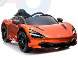 kidsvip mclaren 720s kids toddlers ride on car sport powered 12v rubber wheels leather seat rc orange 41