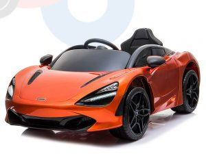 kidsvip mclaren 720s kids toddlers ride on car sport powered 12v rubber wheels leather seat rc orange 43