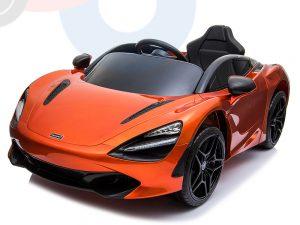 kidsvip mclaren 720s kids toddlers ride on car sport powered 12v rubber wheels leather seat rc orange 51