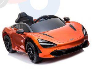 kidsvip mclaren 720s kids toddlers ride on car sport powered 12v rubber wheels leather seat rc orange 52