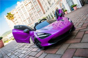 kidsvip mclaren 720s kids toddlers ride on car sport powered 12v rubber wheels leather seat rc purple 15