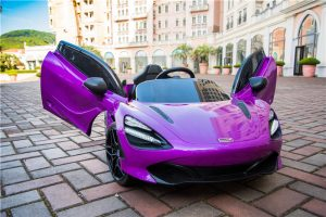 kidsvip mclaren 720s kids toddlers ride on car sport powered 12v rubber wheels leather seat rc purple 16