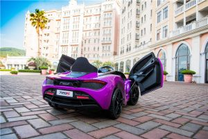 kidsvip mclaren 720s kids toddlers ride on car sport powered 12v rubber wheels leather seat rc purple 21
