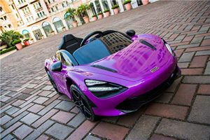 kidsvip mclaren 720s kids toddlers ride on car sport powered 12v rubber wheels leather seat rc purple 42