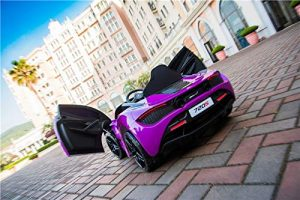 kidsvip mclaren 720s kids toddlers ride on car sport powered 12v rubber wheels leather seat rc purple 43