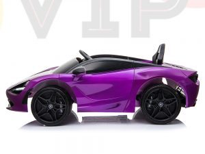 kidsvip mclaren 720s kids toddlers ride on car sport powered 12v rubber wheels leather seat rc purple 50
