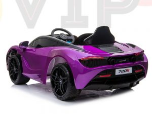 kidsvip mclaren 720s kids toddlers ride on car sport powered 12v rubber wheels leather seat rc purple 51