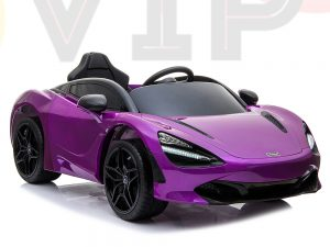 kidsvip mclaren 720s kids toddlers ride on car sport powered 12v rubber wheels leather seat rc purple 53