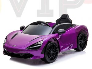 kidsvip mclaren 720s kids toddlers ride on car sport powered 12v rubber wheels leather seat rc purple 58