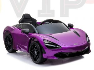 kidsvip mclaren 720s kids toddlers ride on car sport powered 12v rubber wheels leather seat rc purple 59