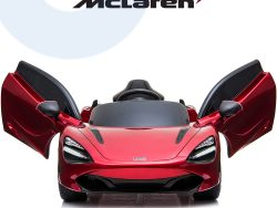 kidsvip mclaren 720s kids toddlers ride on car sport powered 12v rubber wheels leather seat rc red 11