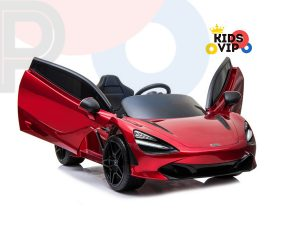 kidsvip mclaren 720s kids toddlers ride on car sport powered 12v rubber wheels leather seat rc red 14