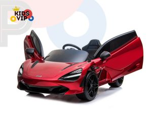kidsvip mclaren 720s kids toddlers ride on car sport powered 12v rubber wheels leather seat rc red 15