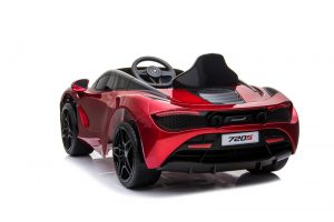 kidsvip mclaren 720s kids toddlers ride on car sport powered 12v rubber wheels leather seat rc red 19