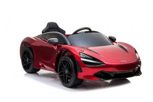 kidsvip mclaren 720s kids toddlers ride on car sport powered 12v rubber wheels leather seat rc red 21