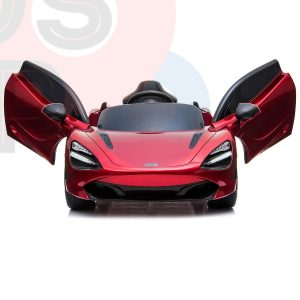 kidsvip mclaren 720s kids toddlers ride on car sport powered 12v rubber wheels leather seat rc red 26