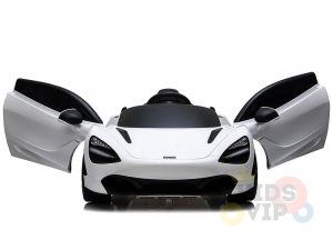 kidsvip mclaren 720s kids toddlers ride on car sport powered 12v rubber wheels leather seat rc white 11