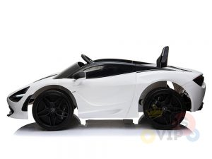 kidsvip mclaren 720s kids toddlers ride on car sport powered 12v rubber wheels leather seat rc white 13