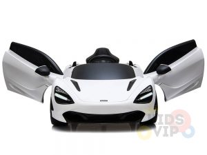 kidsvip mclaren 720s kids toddlers ride on car sport powered 12v rubber wheels leather seat rc white 15