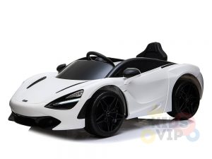 kidsvip mclaren 720s kids toddlers ride on car sport powered 12v rubber wheels leather seat rc white 18