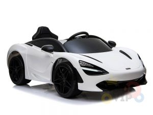 kidsvip mclaren 720s kids toddlers ride on car sport powered 12v rubber wheels leather seat rc white 23