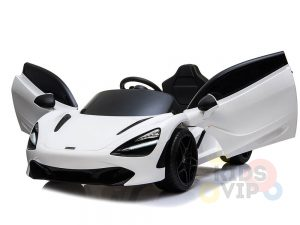 kidsvip mclaren 720s kids toddlers ride on car sport powered 12v rubber wheels leather seat rc white 24