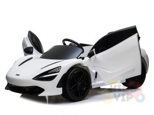 kidsvip mclaren 720s kids toddlers ride on car sport powered 12v rubber wheels leather seat rc white 25
