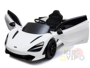 kidsvip mclaren 720s kids toddlers ride on car sport powered 12v rubber wheels leather seat rc white 27