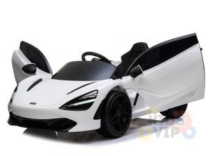 kidsvip mclaren 720s kids toddlers ride on car sport powered 12v rubber wheels leather seat rc white 29