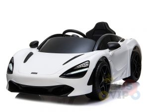 kidsvip mclaren 720s kids toddlers ride on car sport powered 12v rubber wheels leather seat rc white 37