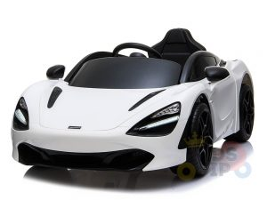 kidsvip mclaren 720s kids toddlers ride on car sport powered 12v rubber wheels leather seat rc white 43