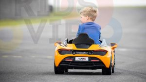 kidsvip mclaren 720s kids toddlers ride on car sport powered 12v rubber wheels leather seat rc white 92