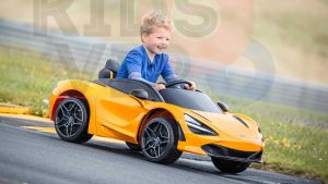 kidsvip mclaren 720s kids toddlers ride on car sport powered 12v rubber wheels leather seat rc white 96