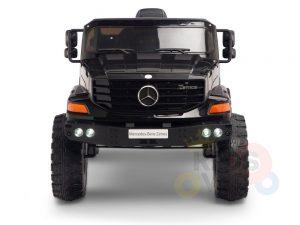 kidsvip mercedes benz zetros truck car for kids amd toddlers leather 12v rc rubber wheels black 1