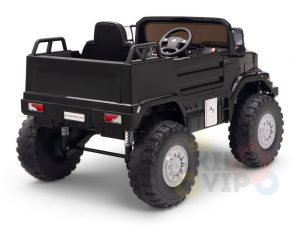 kidsvip mercedes benz zetros truck car for kids amd toddlers leather 12v rc rubber wheels black 12